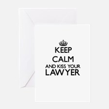 Keep calm and kiss your Lawyer Greeting Cards