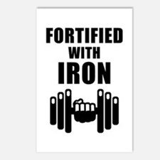 Fortified With Iron Postcards (Package of 8)