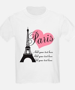 custom add text paris T-Shirt