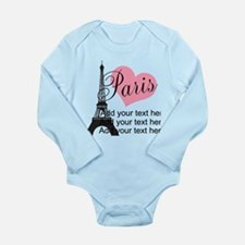 custom add text paris Onesie Romper Suit