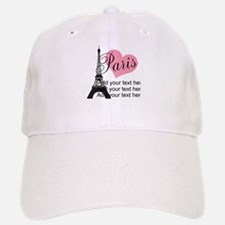 custom add text paris Baseball Baseball Cap