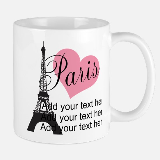custom add text paris Mug
