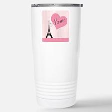 custom add text paris Stainless Steel Travel Mug