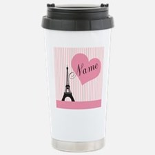custom add text paris Travel Mug