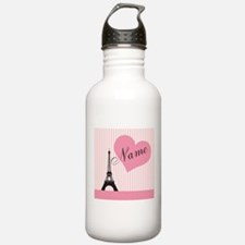 custom add text paris Water Bottle