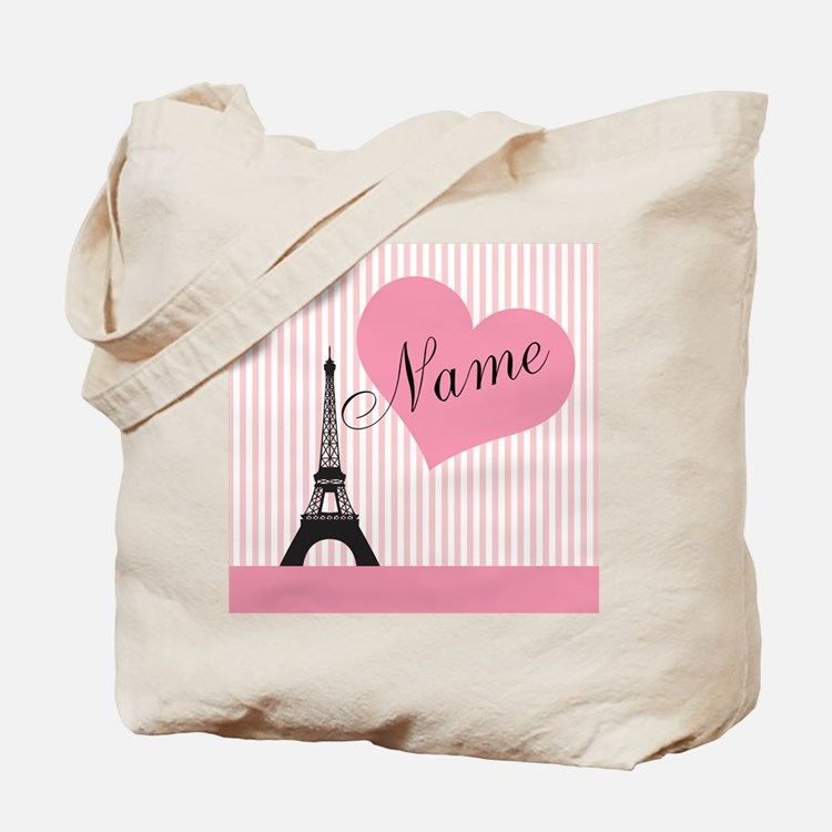 custom add text paris Tote Bag
