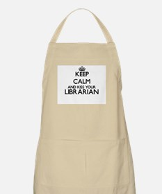 Keep calm and kiss your Librarian Apron