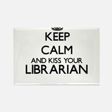 Keep calm and kiss your Librarian Magnets