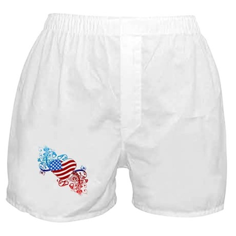 July 4th Heart Scroll Boxer Shorts