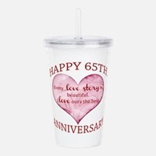 65th. Anniversary Acrylic Double-wall Tumbler