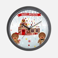 Gingerbread House Party Wall Clock