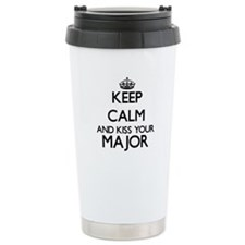 Keep calm and kiss your Travel Mug