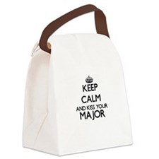 Keep calm and kiss your Major Canvas Lunch Bag
