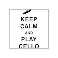 """Funny Viola da gamba Square Sticker 3"""" x 3"""""""