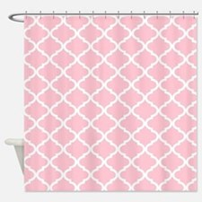Pink Shower Curtains Pink Fabric Shower Curtain Liner - Pale pink shower curtain