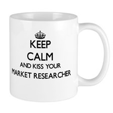 Keep calm and kiss your Market Researcher Mugs