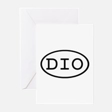 DIO Oval Greeting Cards (Pk of 10)
