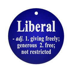 Definition of Liberal (Christmas ornament)