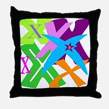 Initial Design (X) Throw Pillow