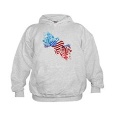 Independence Day Heart Scroll Hoodie