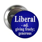 Definition of the Word Liberal (Button)