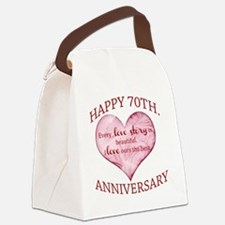 70th. Anniversary Canvas Lunch Bag
