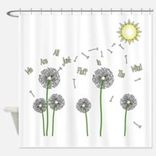 We are all just fluff in the wind Shower Curtain