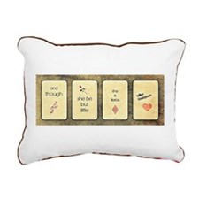 And Though She Be But Rectangular Canvas Pillow