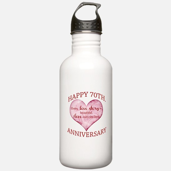 70th. Anniversary Water Bottle