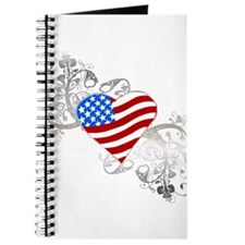 Independence Day Flag Heart Journal
