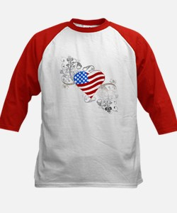 Independence Day Flag Heart Tee