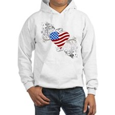 Independence Day Flag Heart Hoodie