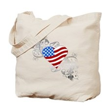 Independence Day Flag Heart Tote Bag