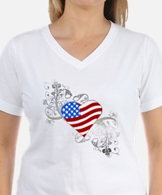 Independence Day Flag Heart Shirt