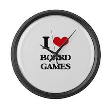 I Love Board Games Large Wall Clock