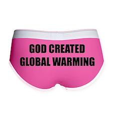 God created global warming Women's Boy Brief