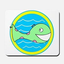 Smiling Whale Pool Float Mousepad