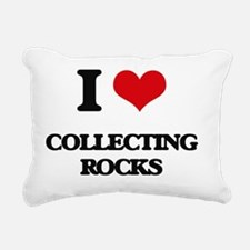 Cute Rock collecting Rectangular Canvas Pillow