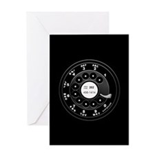 Rotary Faux -bw Greeting Card