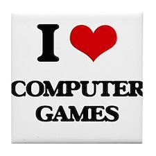 I Love Computer Games Tile Coaster