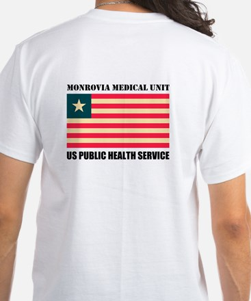 Monrovia Medical Unit Custom White T-Shirt