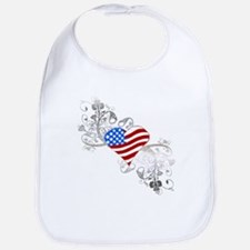 Independence Day Heart Bib