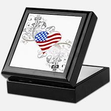 Independence Day Heart Keepsake Box