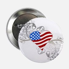 """Independence Day Heart 2.25"""" Button (10 pack)"""