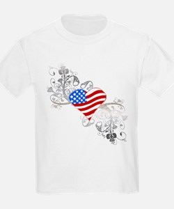 Independence Day Heart T-Shirt