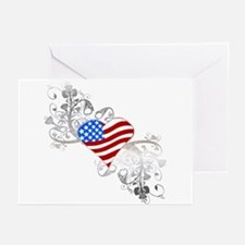 Independence Day Heart Greeting Cards (Package of