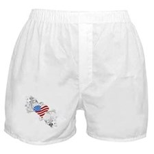 Independence Day Heart Boxer Shorts