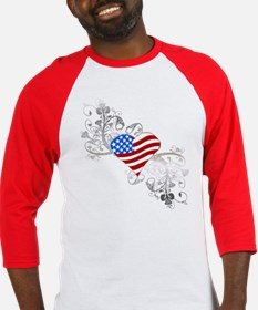 Independence Day Heart Baseball Jersey