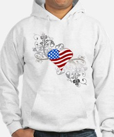 Independence Day Heart Hoodie