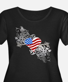 Independence Day Heart T